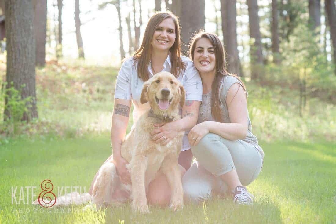 Dog Friendly New Hampshire Same Sex Engagement Photos