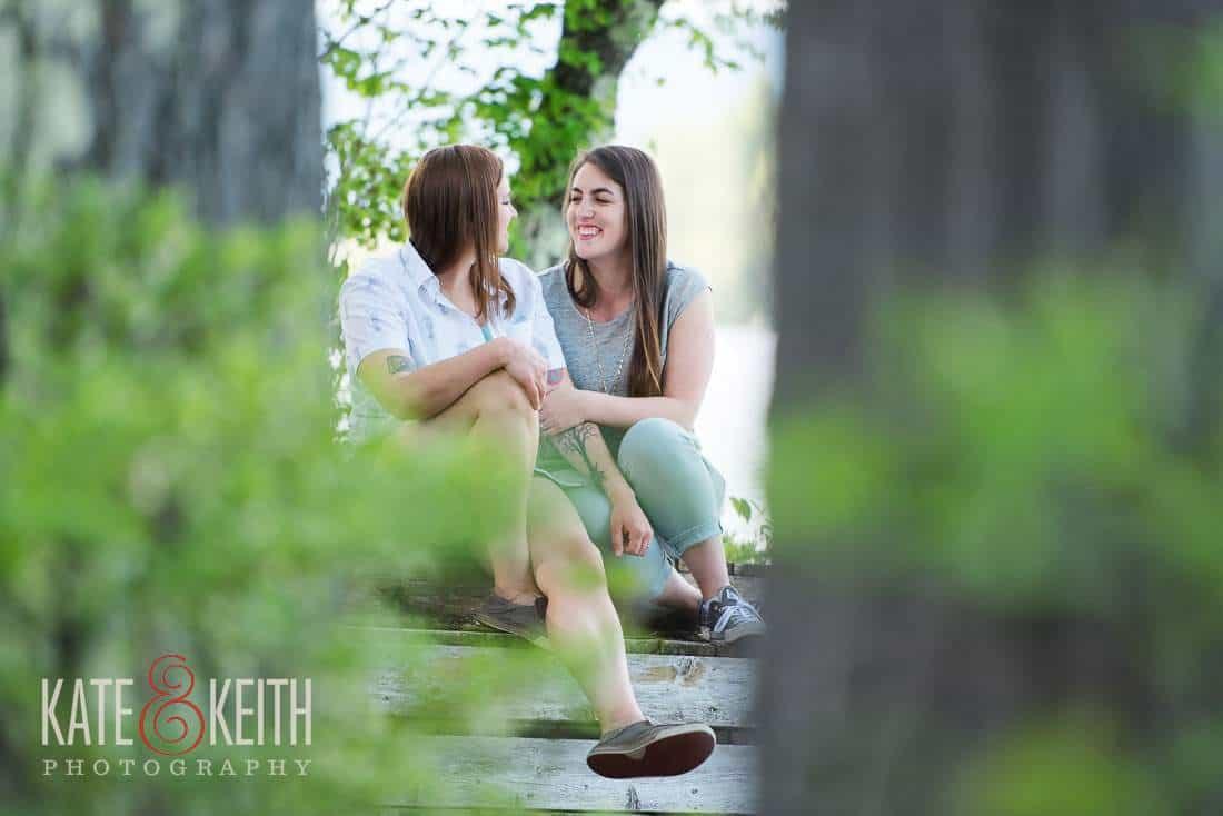 Outdoor NH Lesbian Engagement Photos