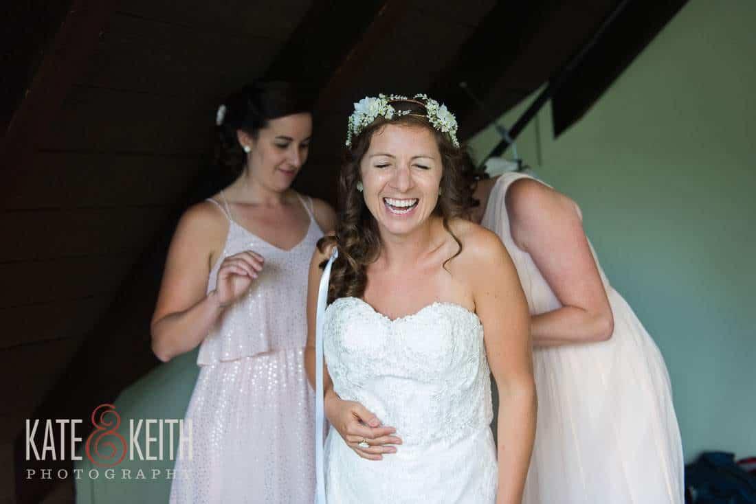 Waterville Valley Wedding bride dress