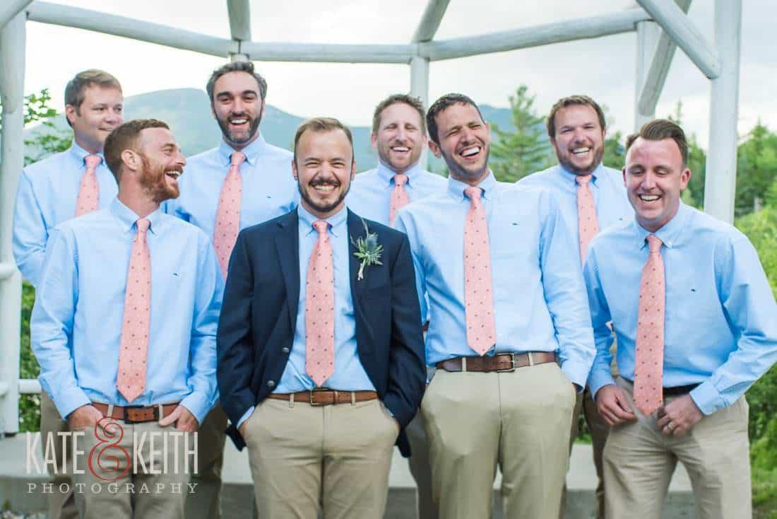 Waterville Valley Wedding Groomsmen