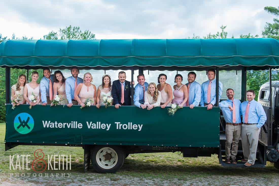 Waterville Valley Wedding party trolley