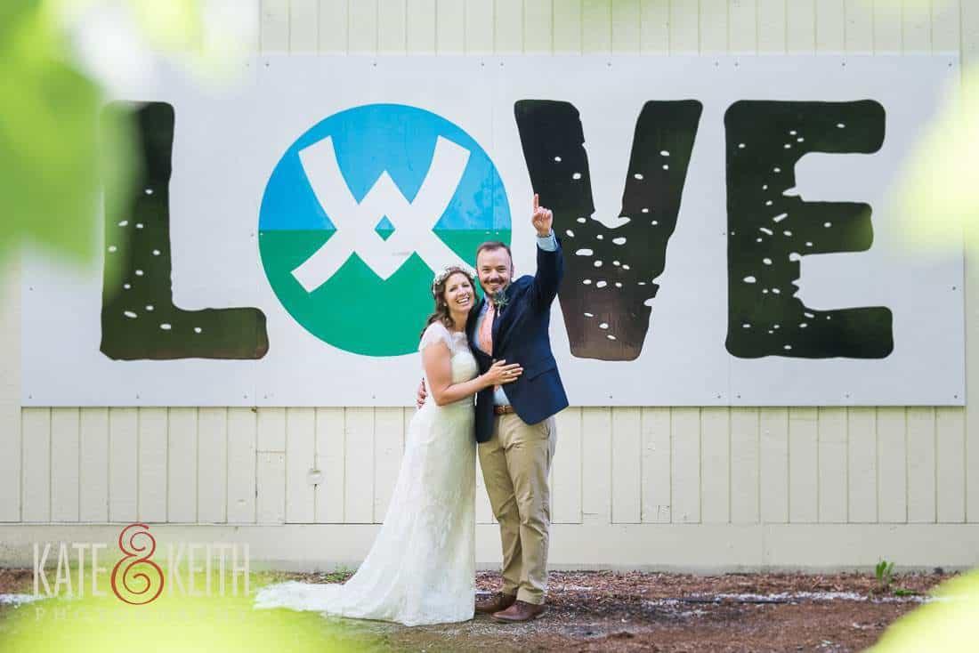 Waterville Valley Wedding Love Sign