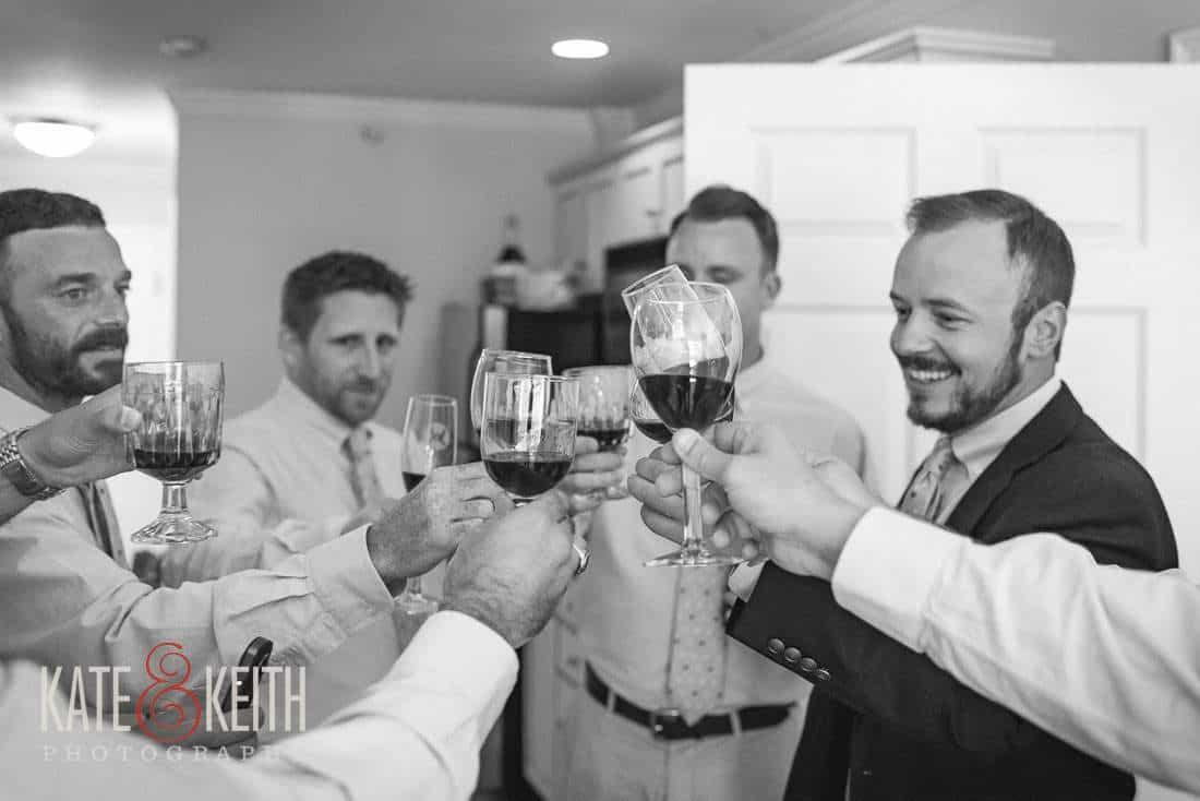 Waterville Valley Wedding groom toast