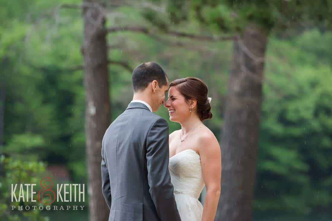 Intimate First Look Bride Groom Lakeside