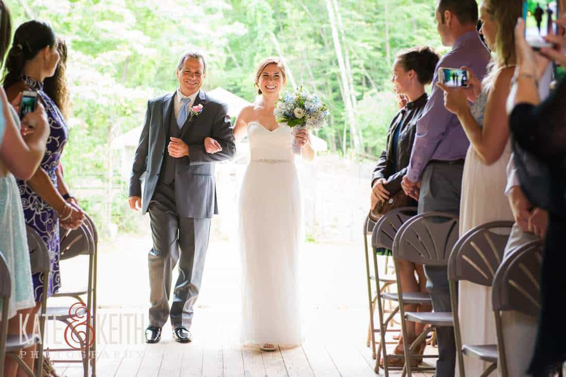 Dad Bride Barn Wedding Venue NH