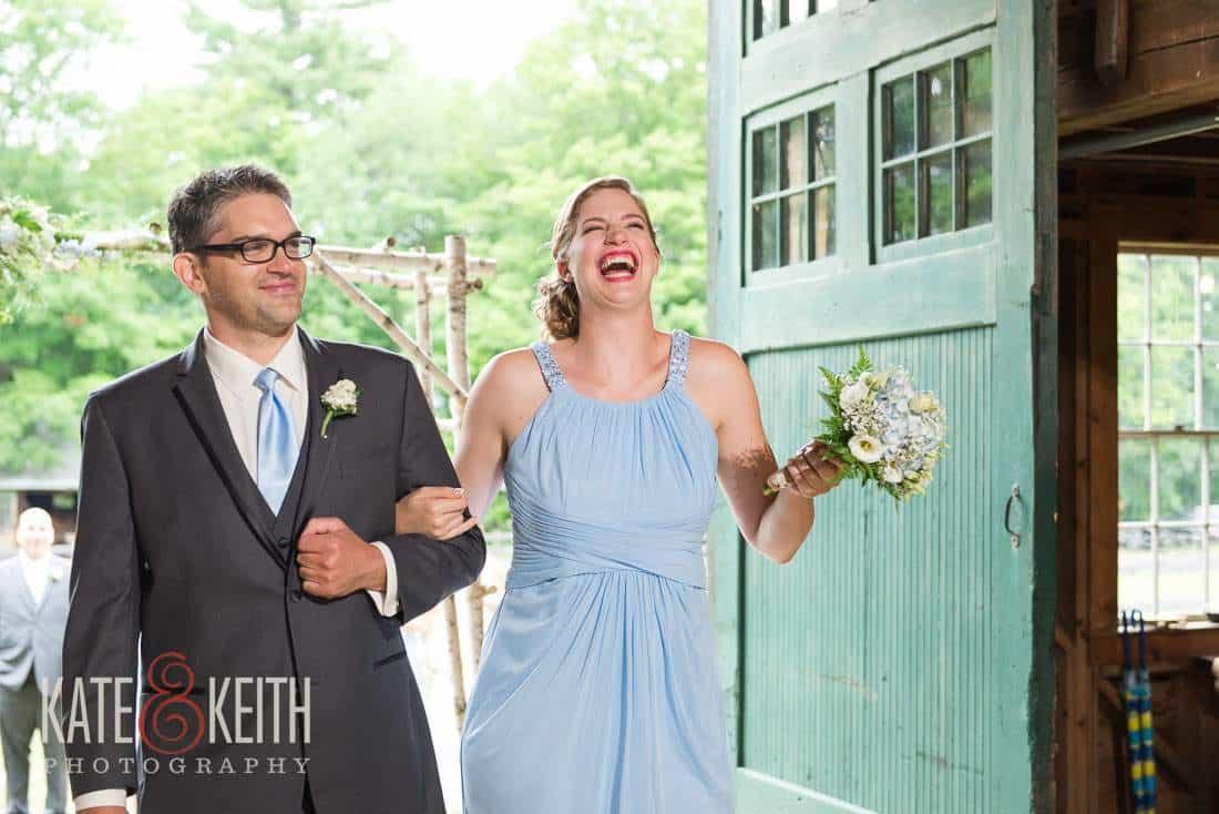 Entering Barn Wedding