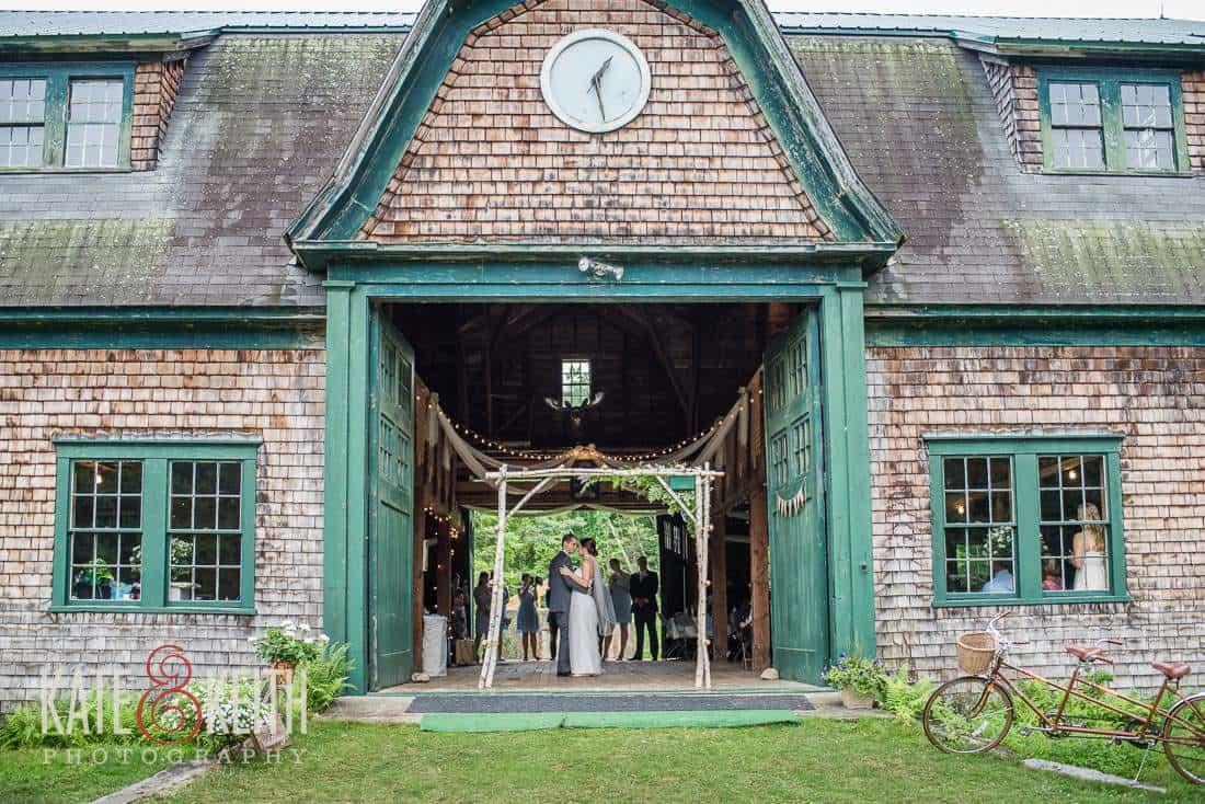 Authentic Barn Wedding First Dance
