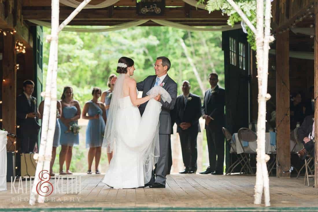 Bride Dad Dance Barn Wedding