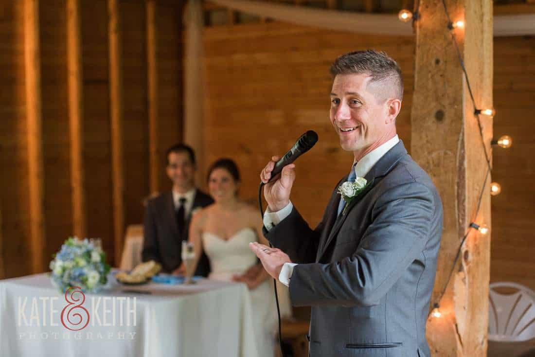 Best Man Barn Wedding