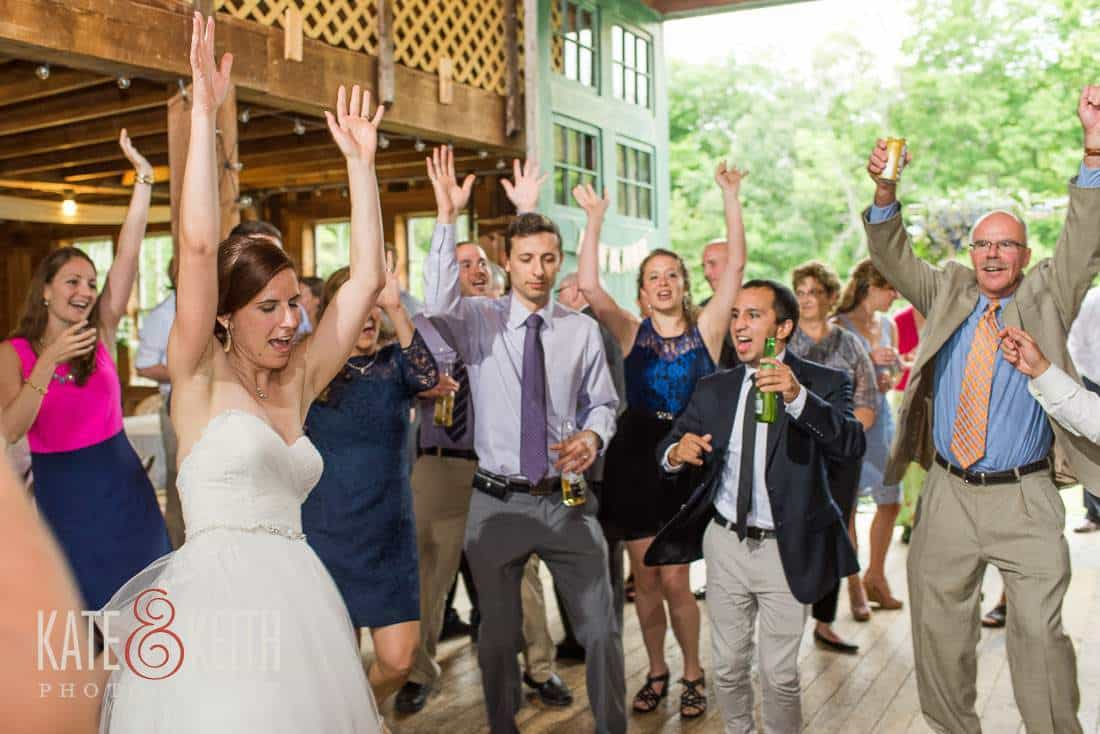 Barn Wedding Bride Dancing