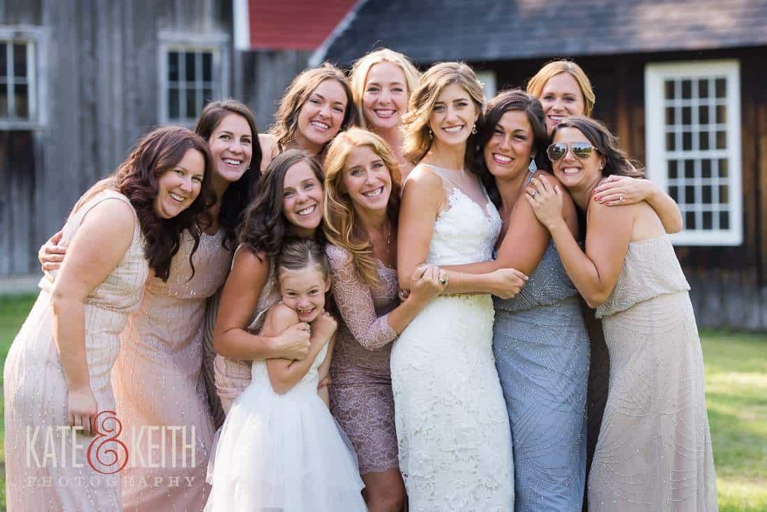 Casual Bridal Party Photos