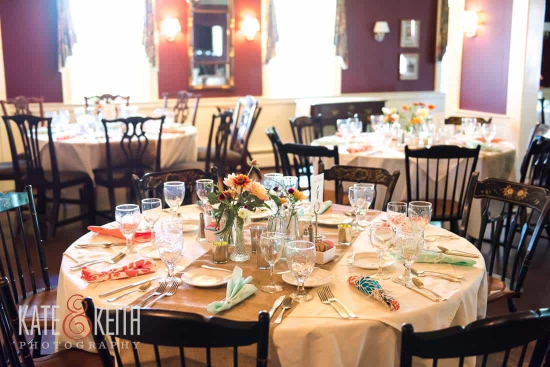 Grafton Inn Vermont Wedding Dinner
