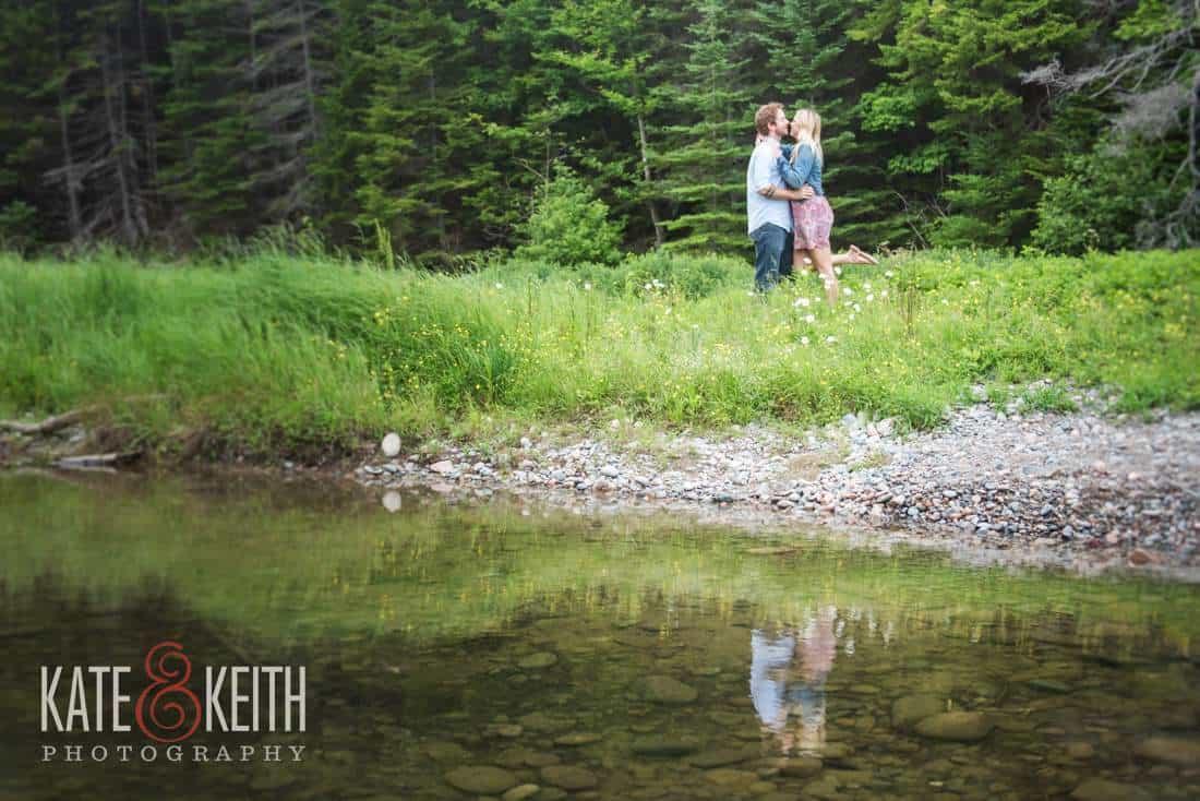 Acadia National Park Hiking Engagement Photos