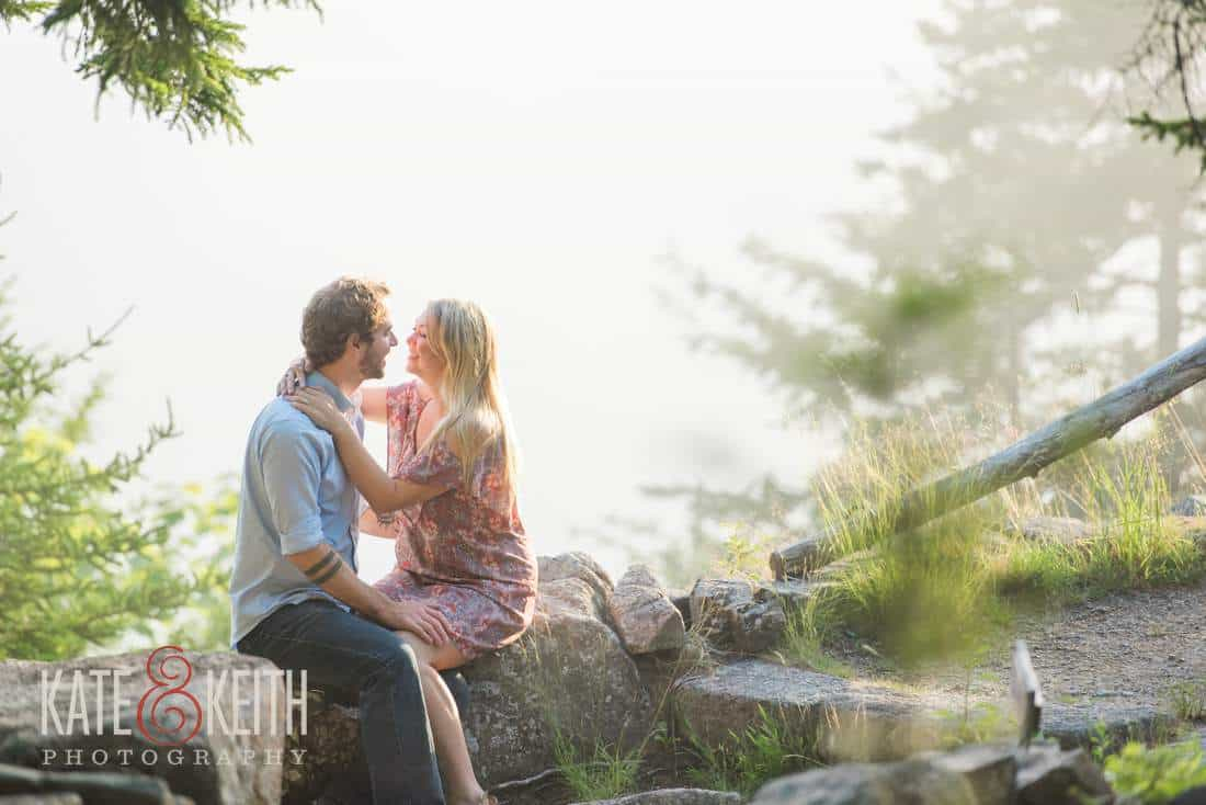 Thuya Gardens Engagement Pictures Acadia