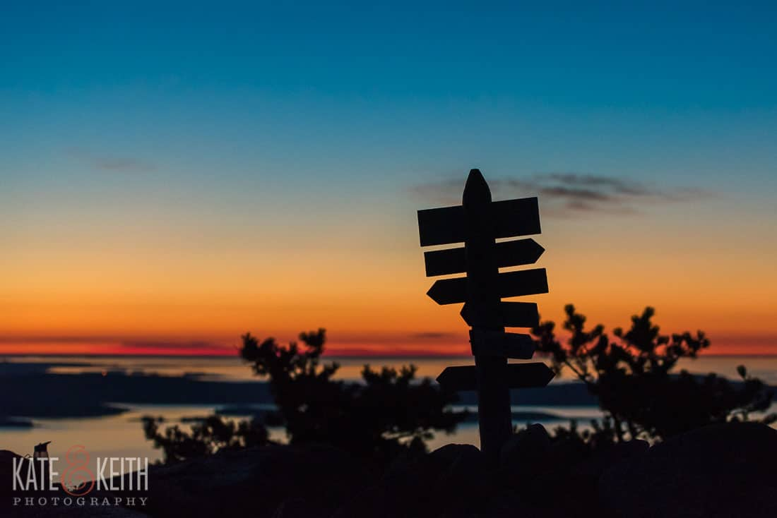Champlain Mountain Acadia National Park Sunrise