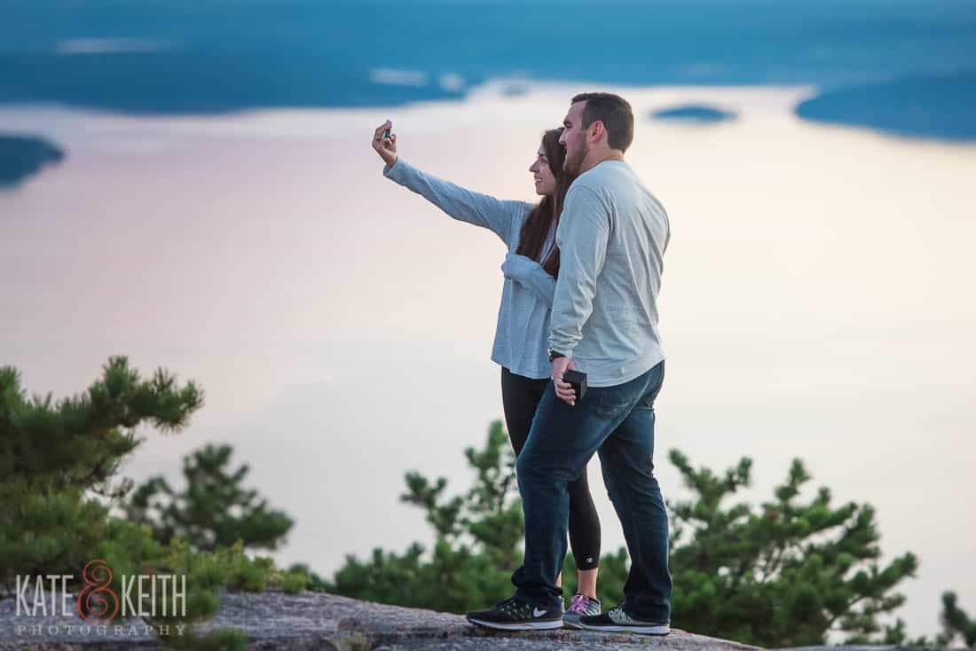 Sunrise Proposal Selfie