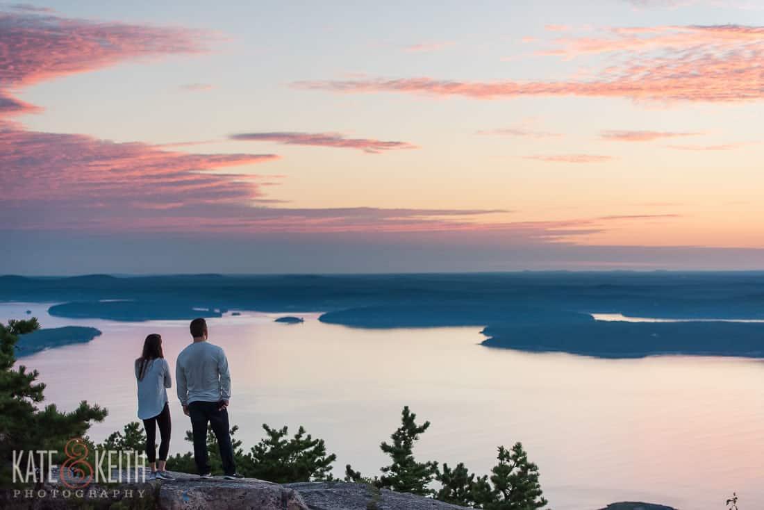 Acadia National Park Sunrise Proposal Location