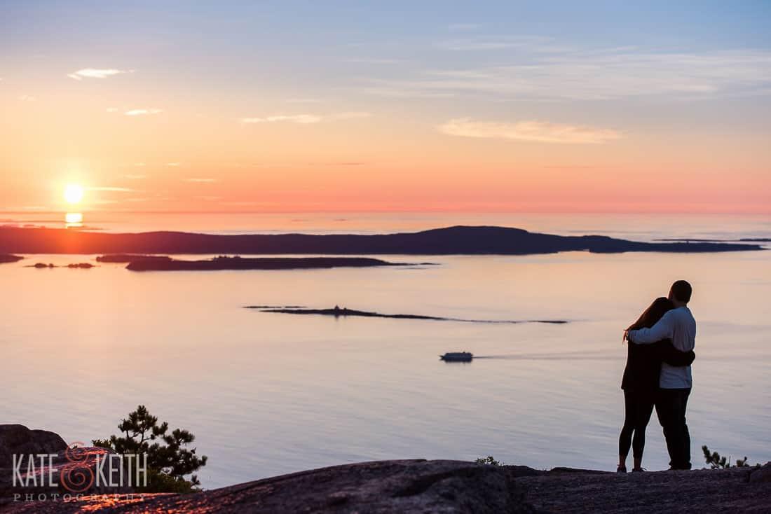 Champlain Mountain Sunrise Engagement