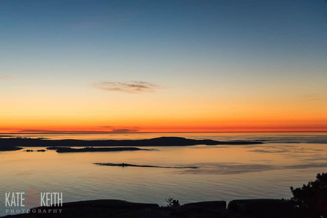 Champlain Mountain Sunrise Acadia National Park