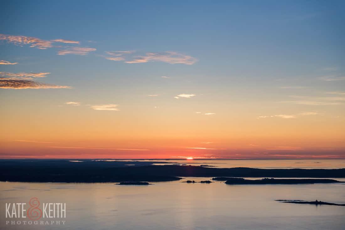 Champlain Mountain Sunrise Acadia National Park Proposal Location