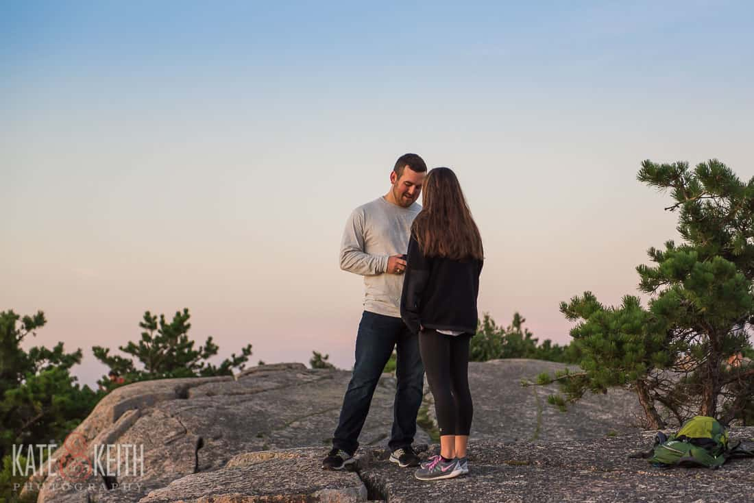 Champlain Mountain Acadia National Park Proposal Location