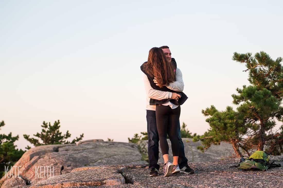 Proposal Hug Acadia National Park