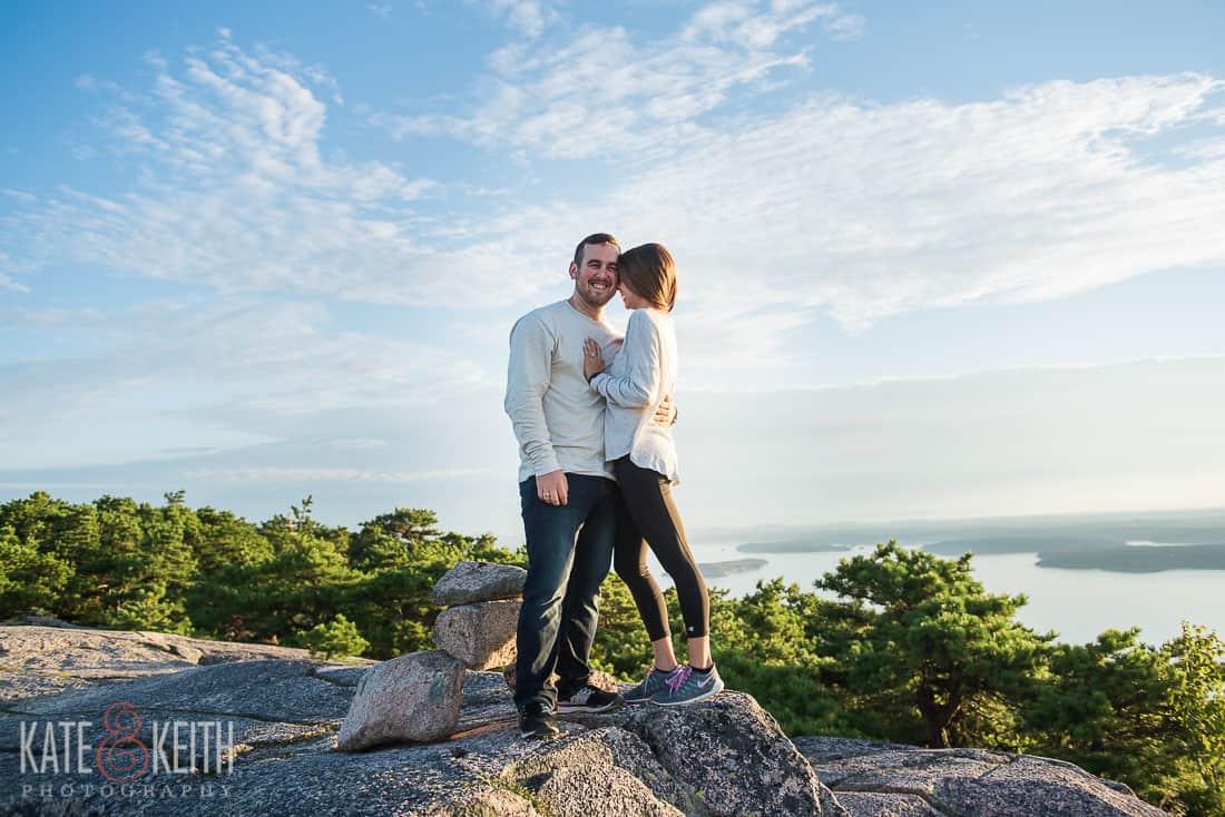 Acadia National Park Morning Engagement Hike