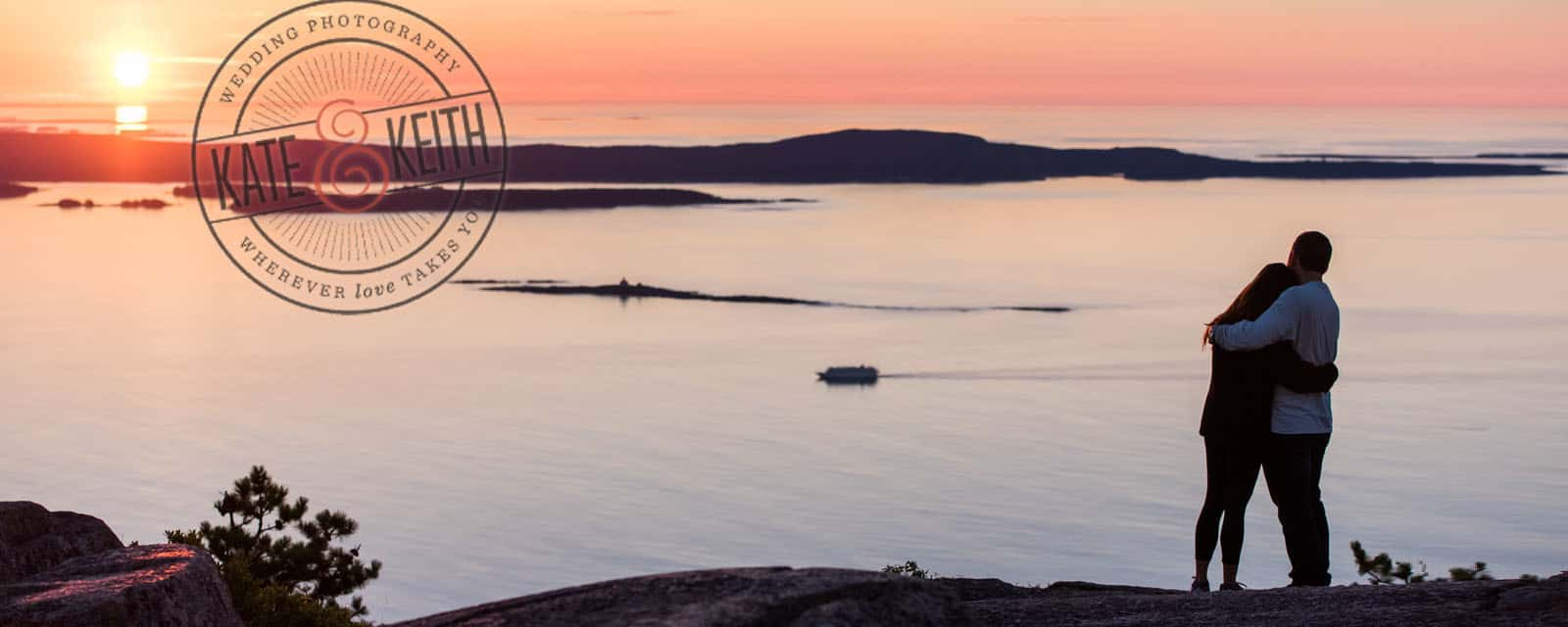 Champlain Mountain Sunrise Acadia National Park Engagment