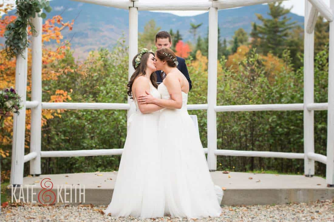 Fall Lesbian Wedding White Mountains New Hampshire