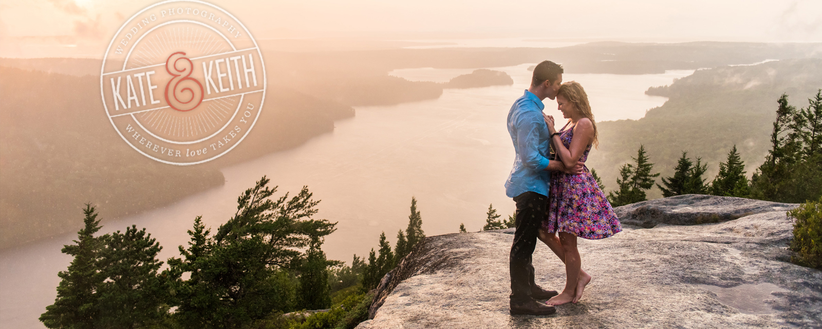 Acadia National Park proposal in the rain