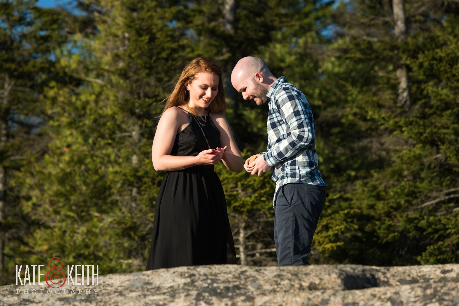 Acadia National Park, marriage proposal, engagement, engaged, wedding proposal, sunset, summer, summertime