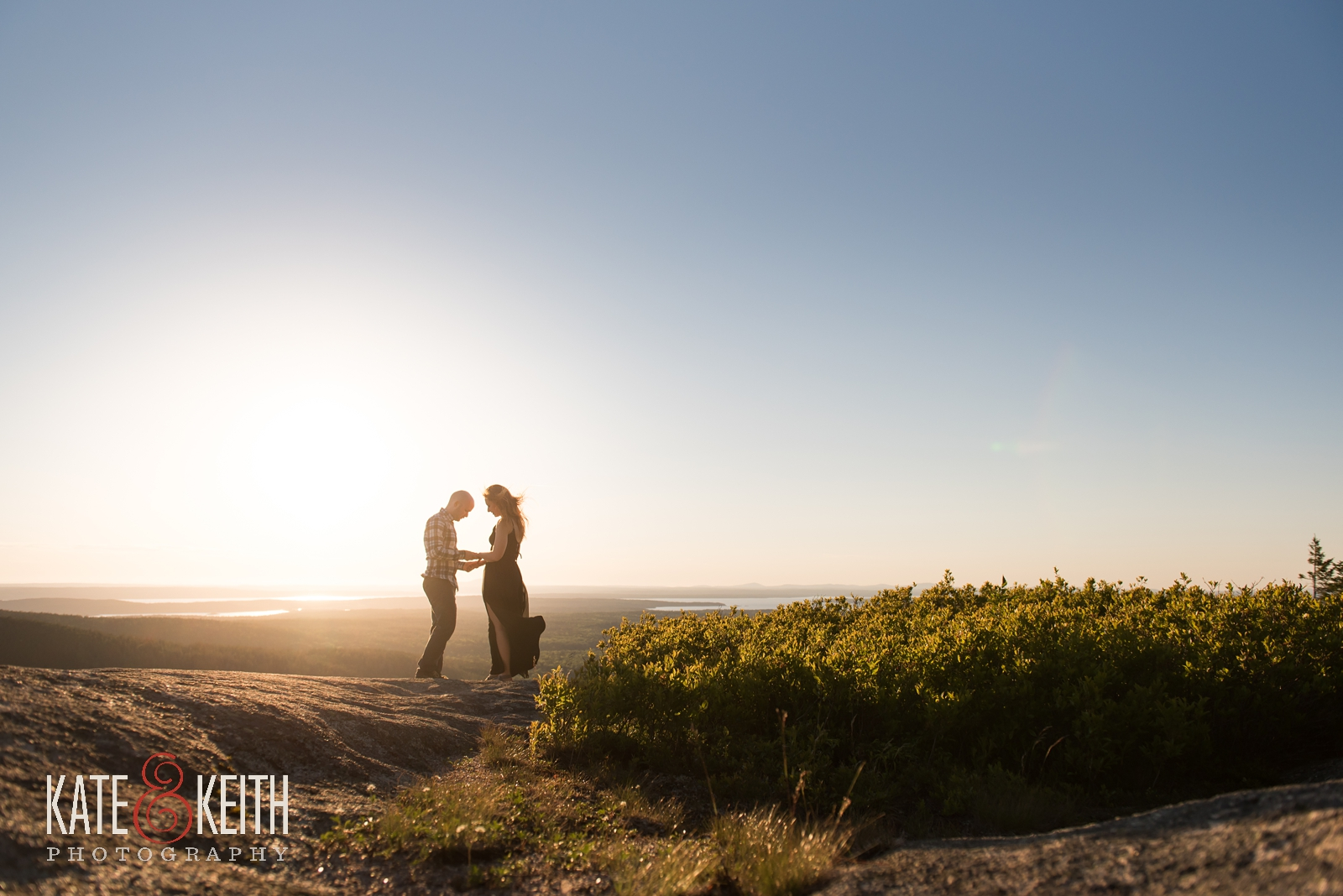 Acadia National Park, Mount Desert Island, MDI, marriage proposal, engagement, engaged, wedding proposal, sunset, summer, summertime, engagement photos