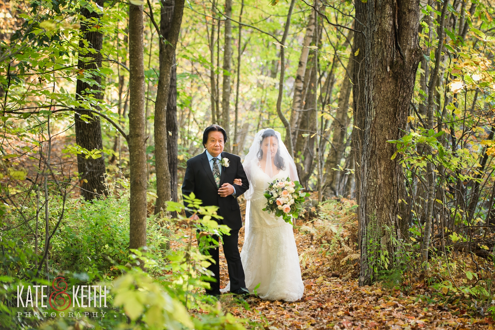 wedding weekend, Jackson, New Hampshire, Whitney's Inn, wedding ceremony, wedding photographers, outdoor wedding ceremony, weekend events, outdoor wedding,  autumn wedding, fall wedding, mountain wedding, weekend wedding, first look, New England, natural wedding photos, lace wedding gown, bridal processional