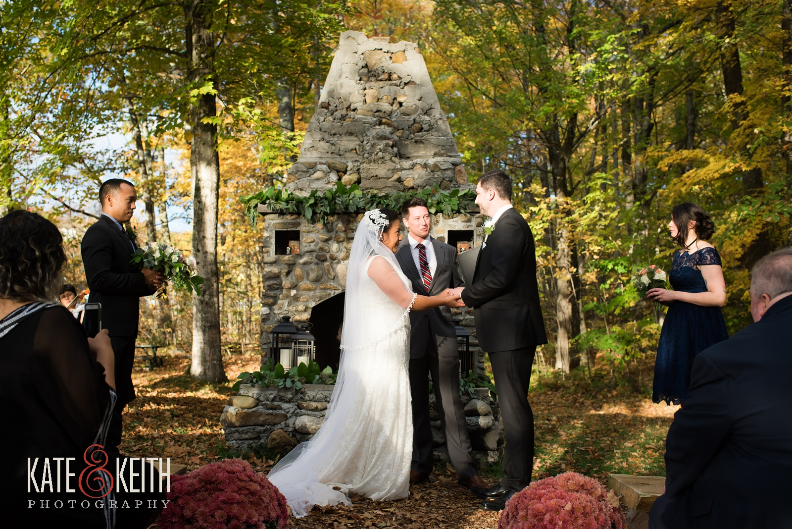 wedding weekend, Jackson, New Hampshire, Whitney's Inn, wedding ceremony, wedding photographers, outdoor wedding ceremony, weekend events, outdoor wedding,  autumn wedding, fall wedding, mountain wedding, weekend wedding, first look, New England, natural wedding photos, fall wedding ceremony outside