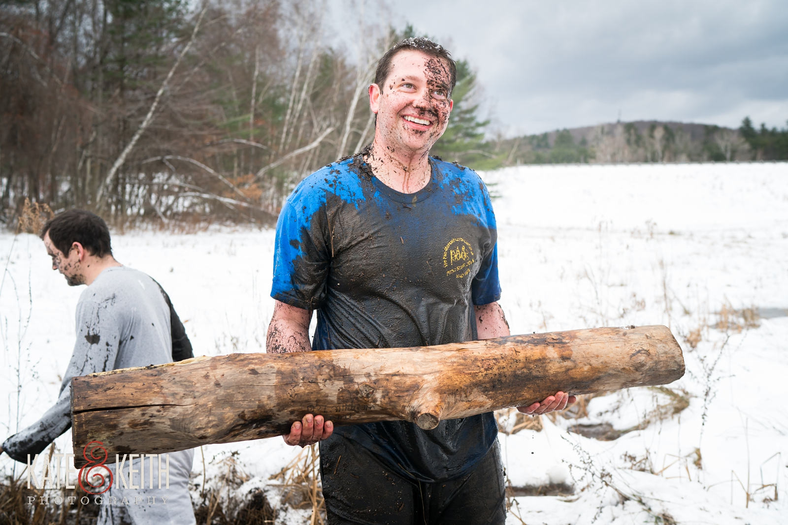 Barn on the Pemi, winter wedding, active groom, outdoor groom, family tradition, mud course