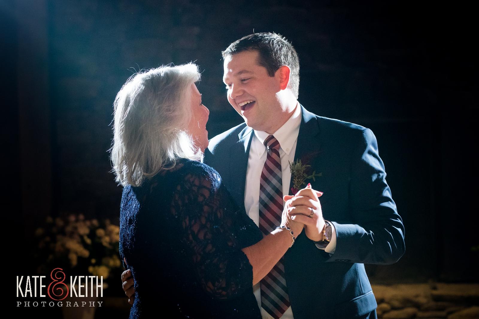 Barn on the Pemi winter wedding, mother son dance, reception, mother of the groom, barn dance floor, barn reception, parent dance
