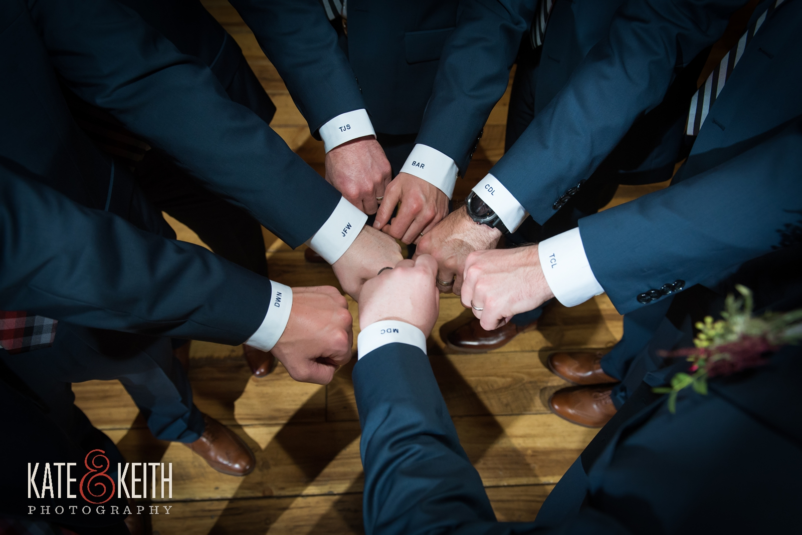 Barn on the Pemi wedding, winter wedding groomsmen, navy suits, monogrammed cuffs, groomsmen gifts, unique groomsmen wedding attire, Men's Warehouse, Joseph Abud