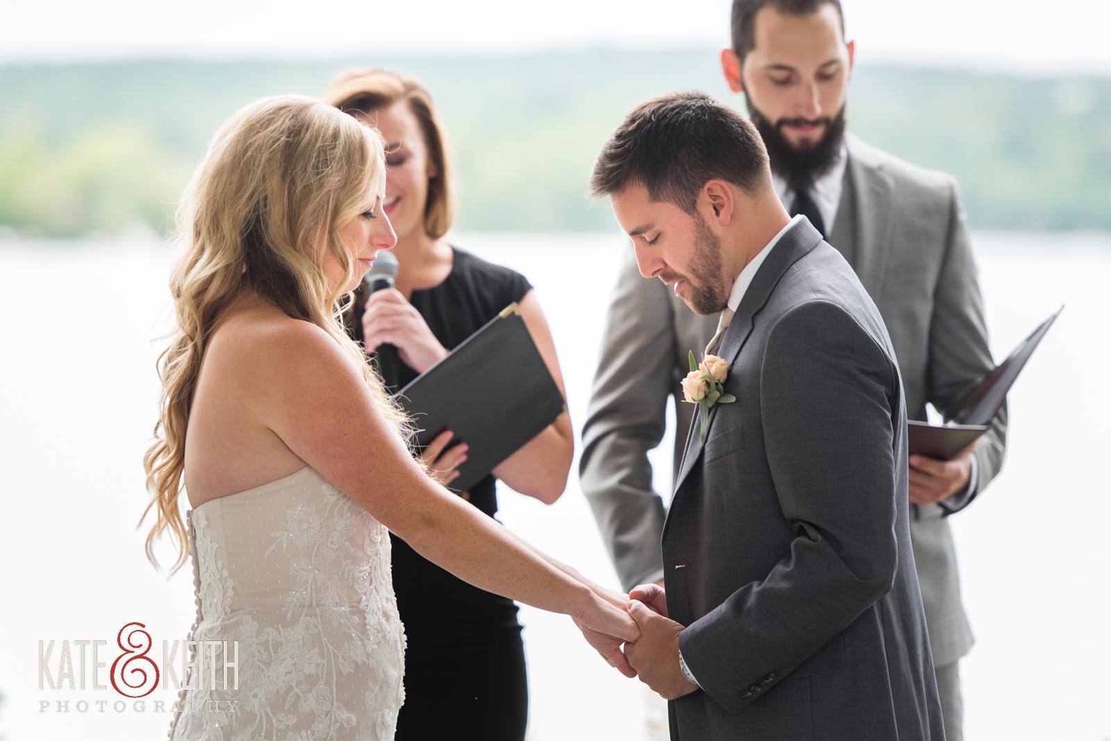 New Hampshire, Lakes Region, Lake Winnipesaukee, The Margate Resort, wedding, outdoor wedding, lakeside wedding, wedding ceremony, outdoor ceremony, tented ceremony, emotional moment