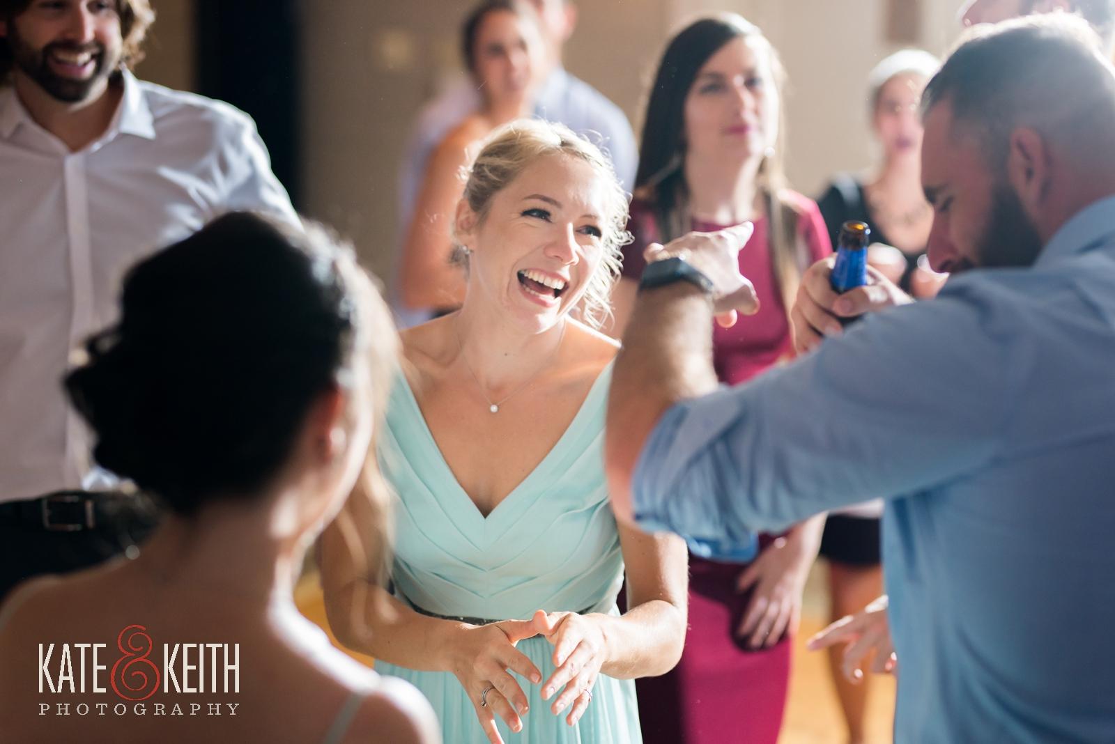 New Hampshire, Lakes Region, Lake Winnipesaukee, The Margate Resort, wedding, outdoor wedding, lakeside wedding, wedding reception, dance floor, bridesmaids dancing, candid wedding photos, candid wedding moments, candid photography