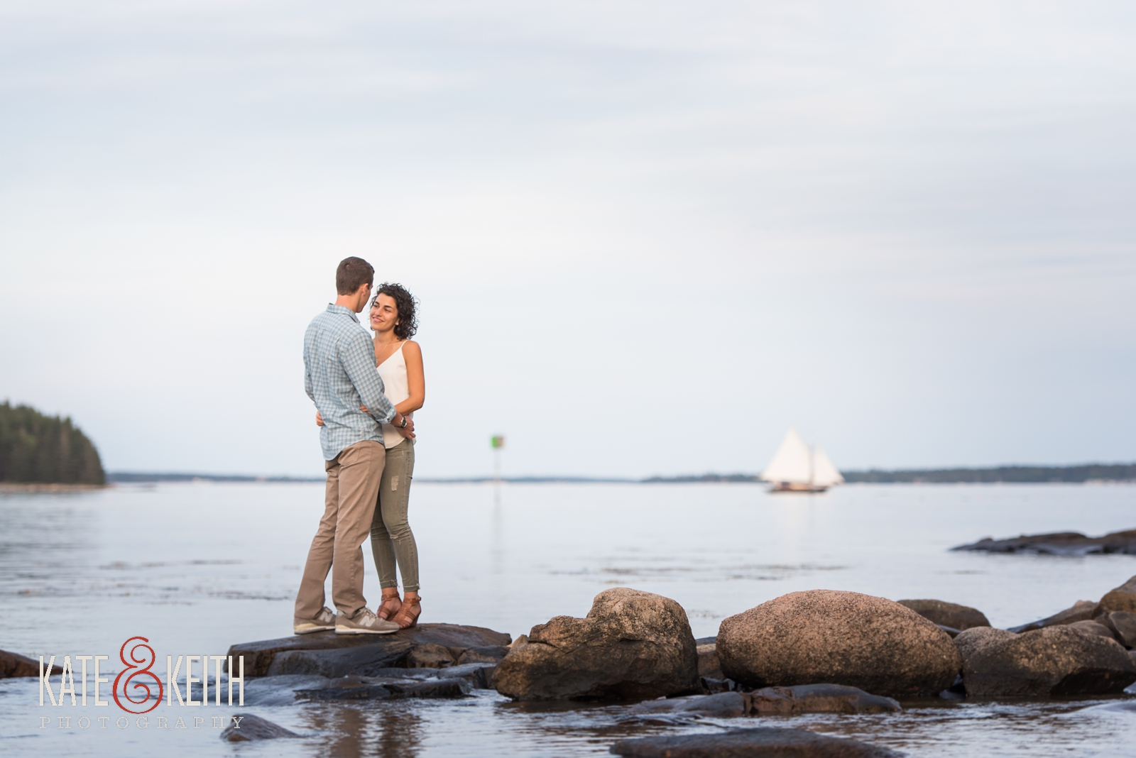 proposal photographers, surprise proposal, proposal in Acadia National Park, Southwest Harbor, Mount Desert Island, seaside, sunset proposal, engagement, getting engaged in Acadia National Park, rowboat, coastal Maine, New England, sailboats, dock, waterfront engagement