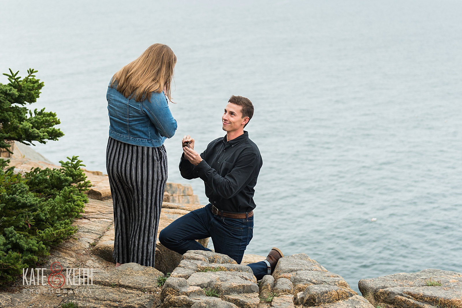 Secret proposal in Acadia National Park