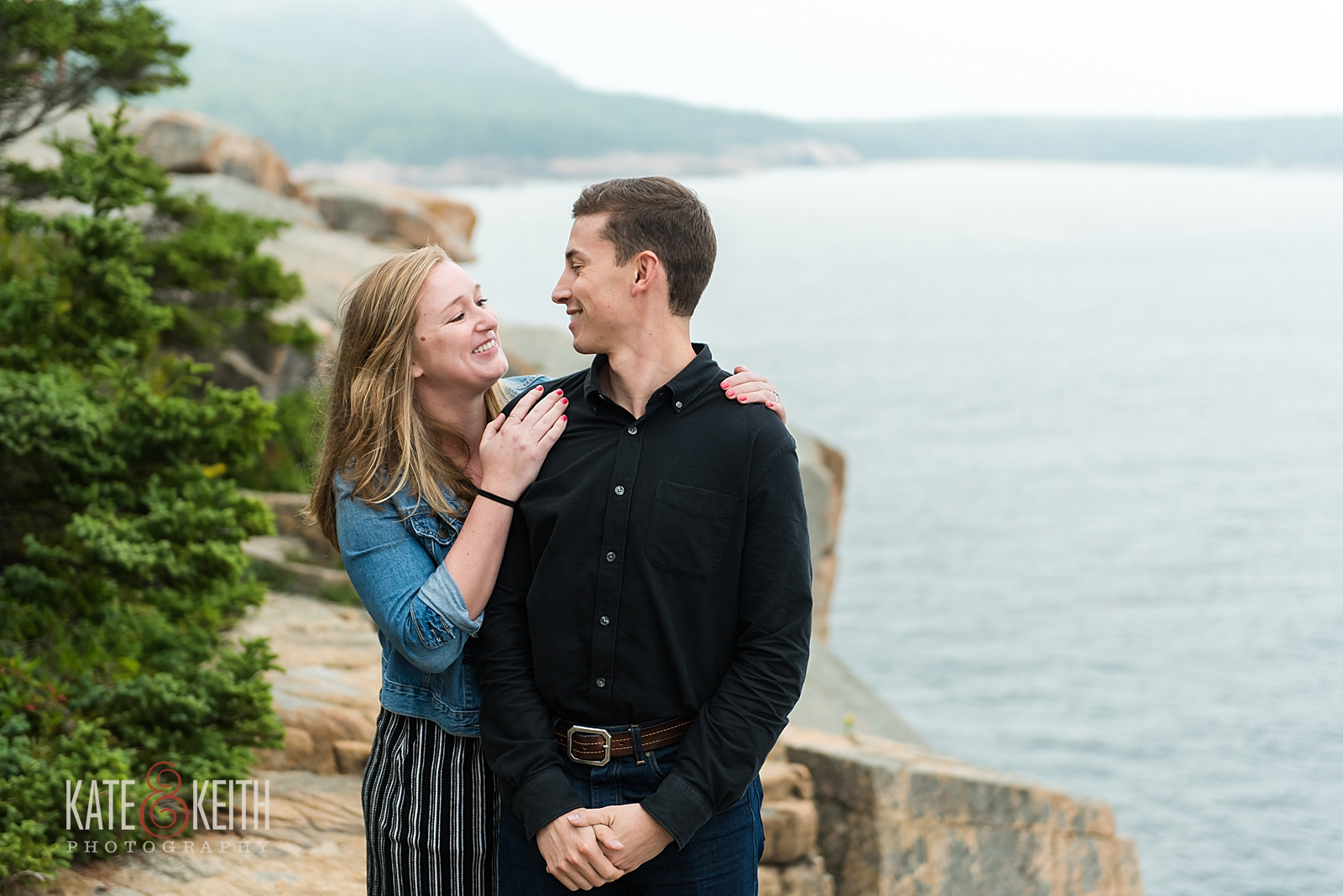 Engagement photos in Acadia