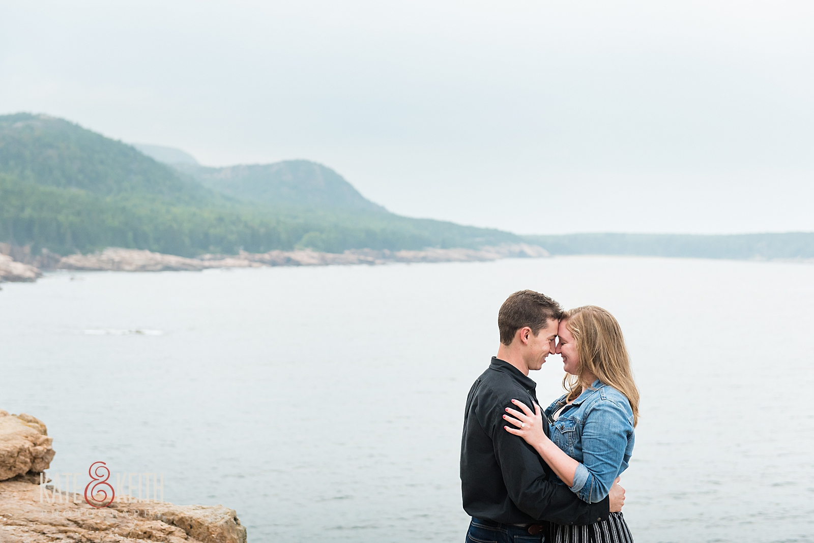 Maine coast engagement photos