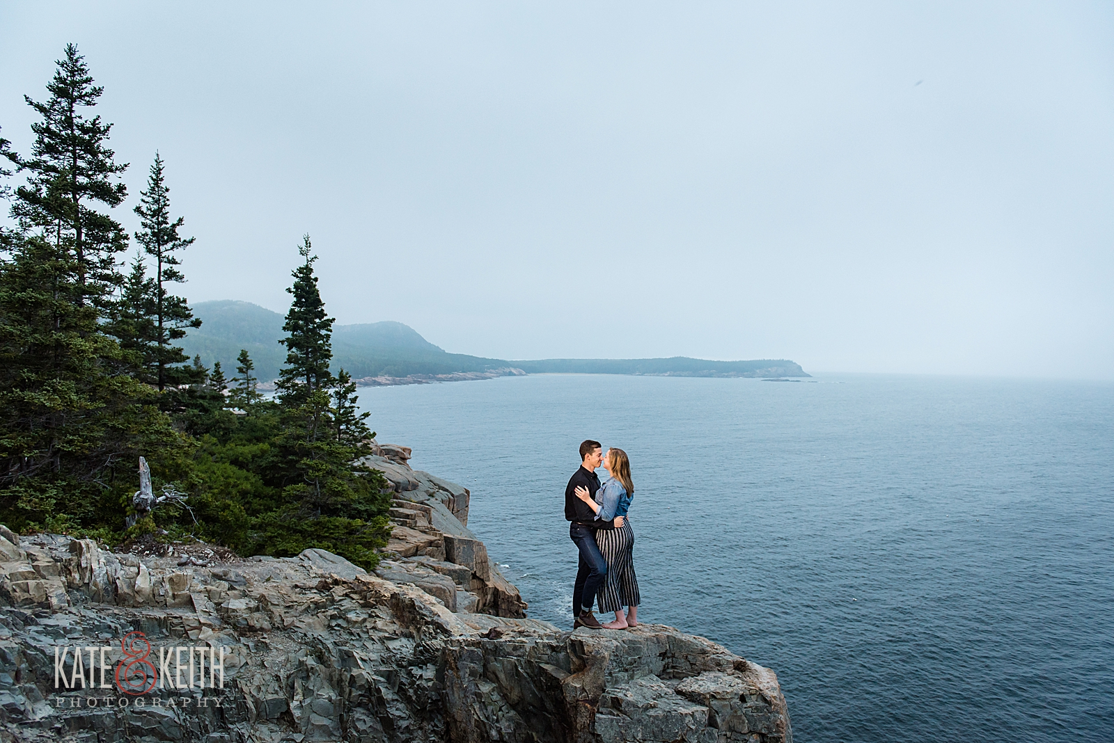 Acadia National Park Engagement Photos
