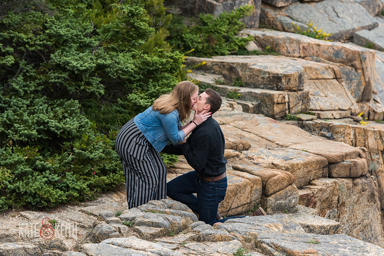 She said yes in Acadia National Park